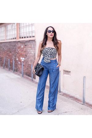 blue trousers Bebe pants