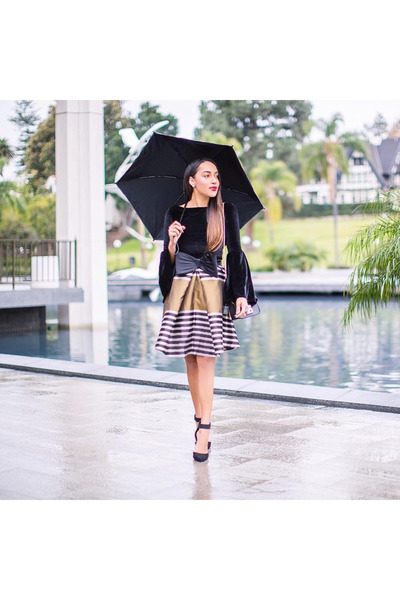 black asos skirt
