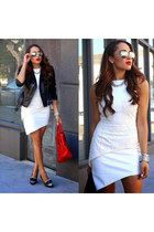 black NIna Shoes shoes - white Elliat dress - black Alexander McQueen jacket