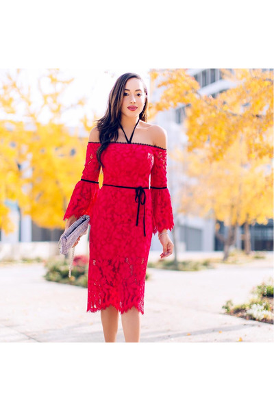 red Shop Alexis dress