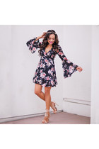black floral Lucy Paris dress