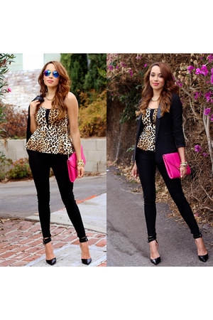black Steve Madden shoes - black Charlotte Russe jacket