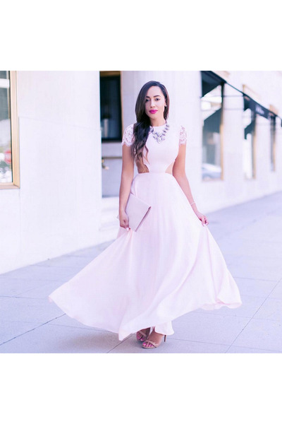 light pink Bebe dress