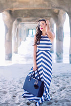 white striped Shoshanna dress