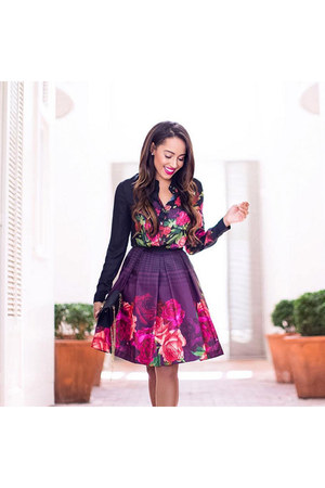 purple floral ted baker dress