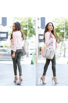 light pink banana republic jacket - light pink Forever 21 shoes