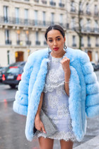 light blue Marciano coat