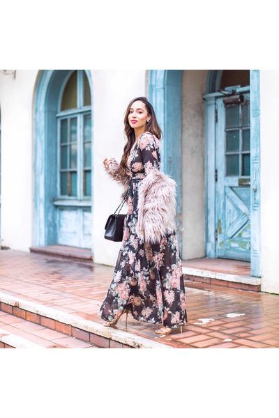 black floral Forever 21 dress