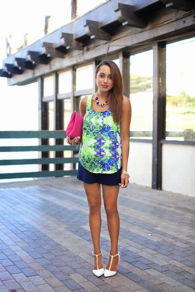 Image Boutique necklace - white Qupid shoes - bubble gum Charlotte Russe bag