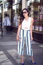 white striped River Island pants