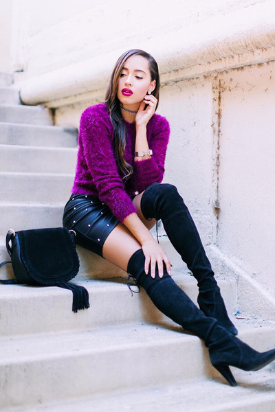 purple Forever 21 sweater