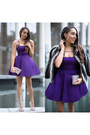 Silver-lulus-shoes-purple-lulus-dress-heather-gray-faux-fur-via-spiga-coat
