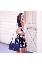 black floral Forever 21 skirt