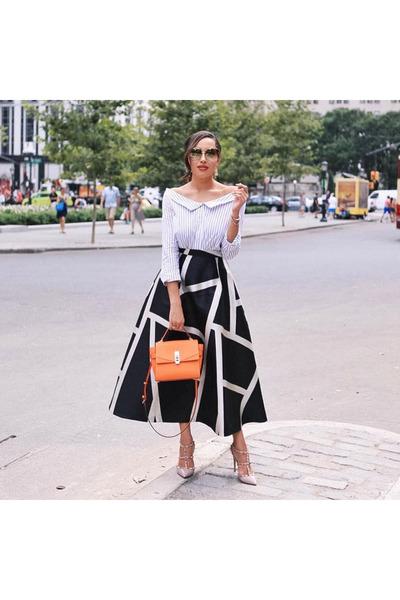 black print LK Bennett skirt