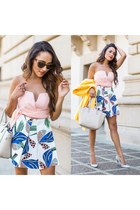 white floral Paul & Joe Sister skirt - light blue Zara shoes