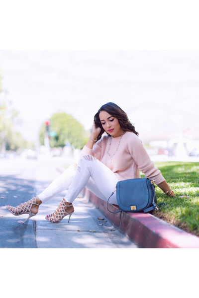 light pink Forever 21 sweater