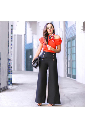 black trousers Line & Dot pants