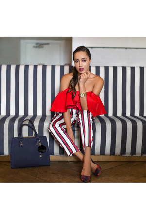 red crop top Alexia Maria top - navy Call it Spring shoes