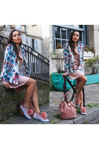 white floral JustFab blazer - light pink JustFab shoes