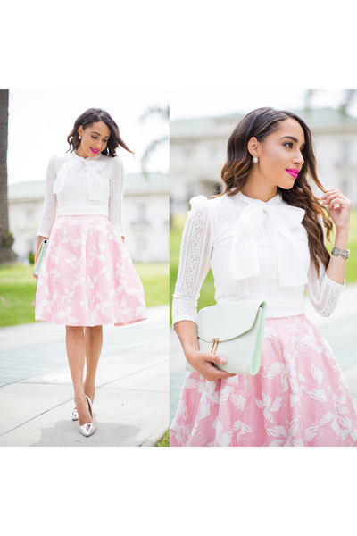 Off-white-love-culture-shoes-light-pink-worn-as-skirt-halston-heritage-dress