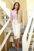 white print Baukjen skirt - beige Charles David shoes