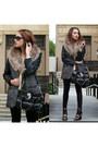 Black-charlotte-russe-shoes-black-fur-leather-forever-21-coat