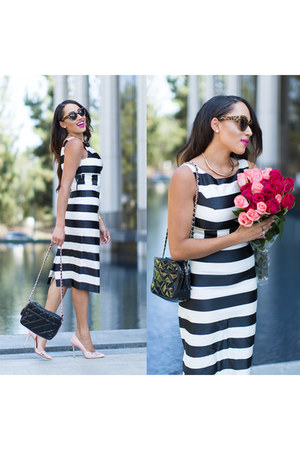 Stripes Black And White Dress | Chictopia