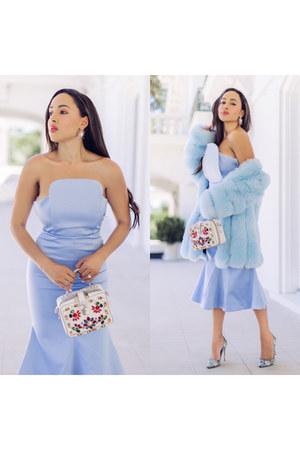 sky blue printed Mary Katrantzou shoes - sky blue Elliat dress