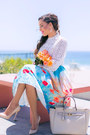 Sky-blue-floral-chicwish-skirt