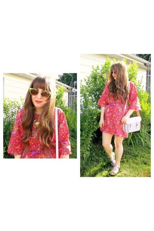 ice cream cone Topshop necklace - red paisley kimono Vintage Style Me dress