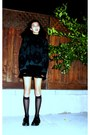 Chunky-leather-bass-shoes-lace-h-m-dress-knit-gianni-marco-sweater