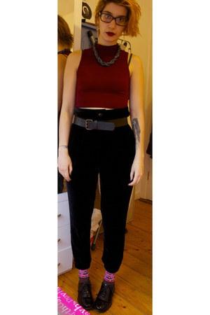 silk viscose Zara pants