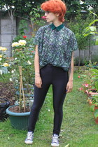 Zara top - American Apparel pants