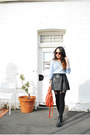 Leather-paraty-chloe-bag-cotton-h-m-jumper-pleather-h-m-skirt