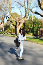 jeans Topshop pants - pleather rubi shoes - knit H&M sweater