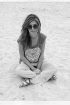 Zara pants - pull&bear t-shirt - H&M sandals