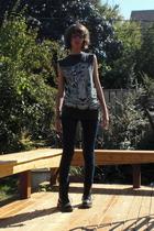 shirt - BDG jeans - Dr Martens boots - vintage accessories