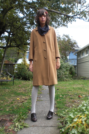 coat - American Apparelican Apparel dress - Target tights - shoes - Forever 21
