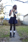 Blue-nordstrom-top-blue-american-apparel-skirt-silver-american-apparel-socks
