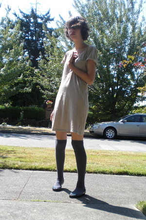 forever 21 dress - Nordstrom socks - Melissa shoes