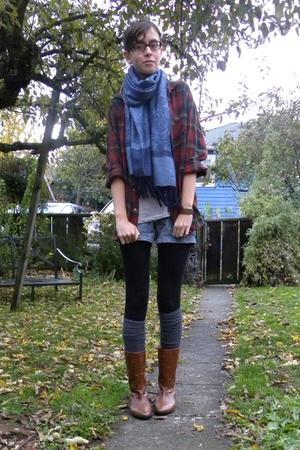 scarf - vintage shirt - Forever 21 shirt - Target shorts - Nordstrom socks - Mal