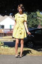 vintage dress - sam edelman shoes