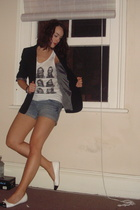 bigw shorts - Peel top - Target Australia blazer - Novo shoes