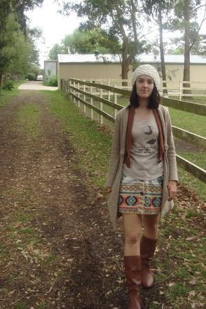 Dotti shoes - coat - Sportsgirl hat - Dotti skirt - Sass and Bide t-shirt - Dott