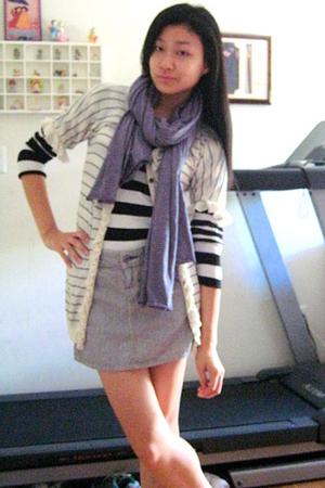 Zara shirt - Gap skirt - Zara scarf - Gap sweater