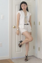 Express shirt - Gap blouse - Gap shorts - Bakers shoes - F21 H&M Swatch accessor