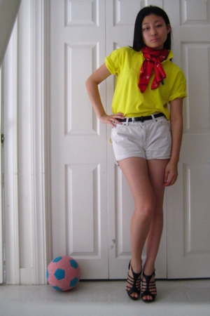 Ralph Lauren shirt - echo scarf - Gap shorts - belt - Bakers shoes