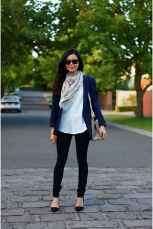 McQ scarf - Rag and Bone jeans - Zara blazer