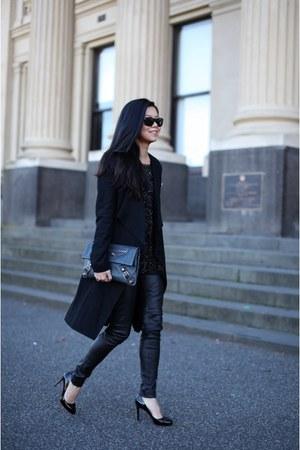 balenciaga bag - Camilla and Marc coat - Zara top - kirrili Johnston pants