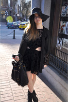 For Love and Lemons dress - ponyhair litas Jeffrey Campbell boots - Miu Miu bag